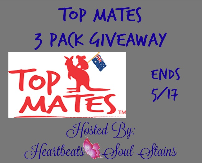 Enter the Top Mates 3 Pack Giveaway. Ends 5/17